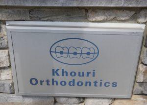 Khouri Orthodontics Front Sign