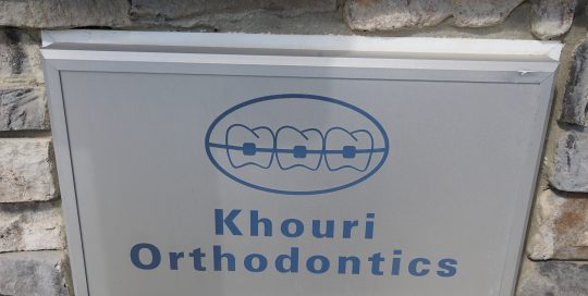 Khouri Orthodontics Front Sign