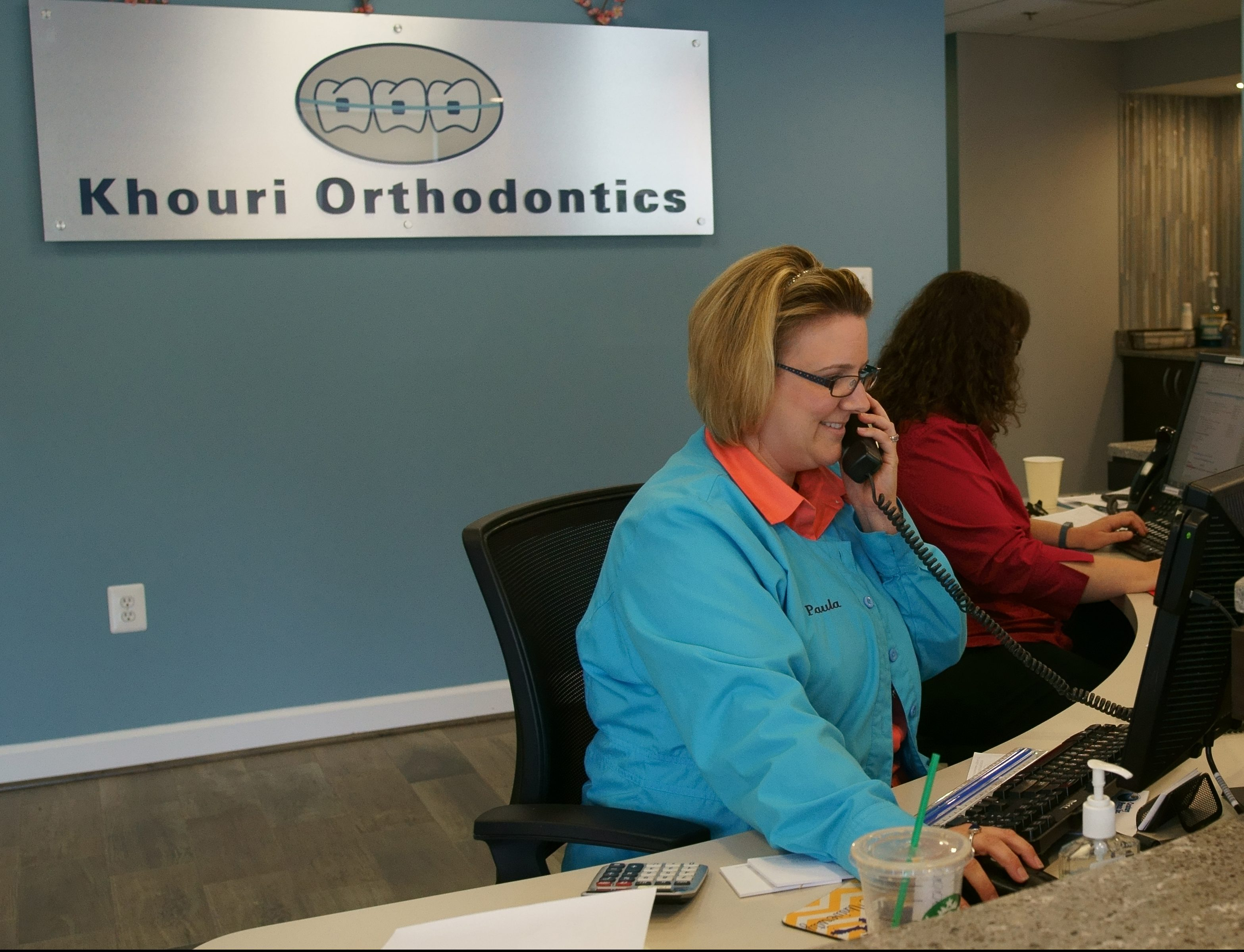 Front Reception Area - Khouri Orthodontics