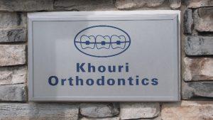 Khouri Orthodontics Sign