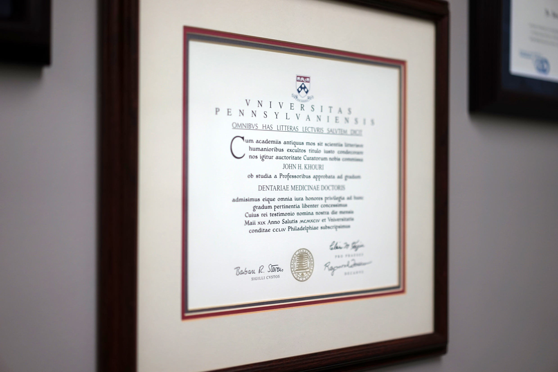 Diploma - Khouri Orthodontics